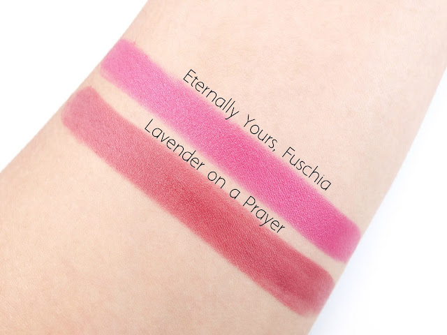 """Saint Cosmetics Blush in """"Love Me for Eternity"""" and Lipsticks in """"Lavender on a Prayer"""" & """"Eternally Yours, Fuschia"""": Review and Swatches"""