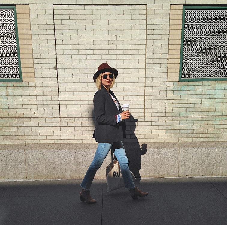 Fashion over reason street style, JCrew, Frame Denim, Bailey of Hollywood, Rachel Comey Mars boots