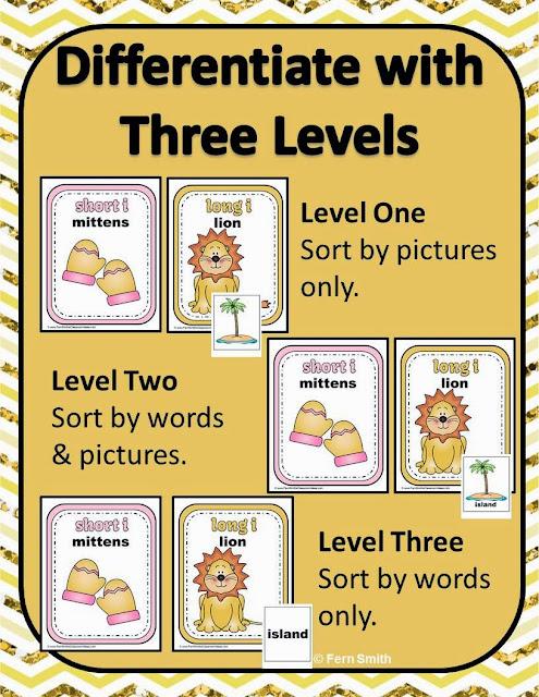 Fern Smith's Classroom Ideas - Fern's Freebie Friday ~ Vowel Sorting Short i & Long i Interactive Notebook Activity at TeacherspayTeachers.