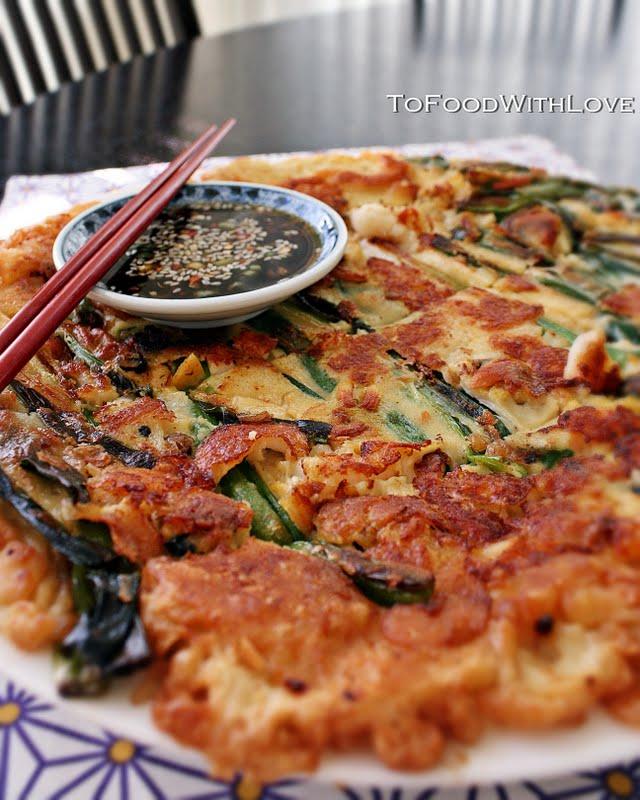 pajeon or scallion pancake recipe makes 2 large pancakes ingredients