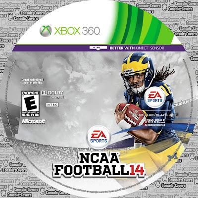 Label ncaa football 14 xbox 360