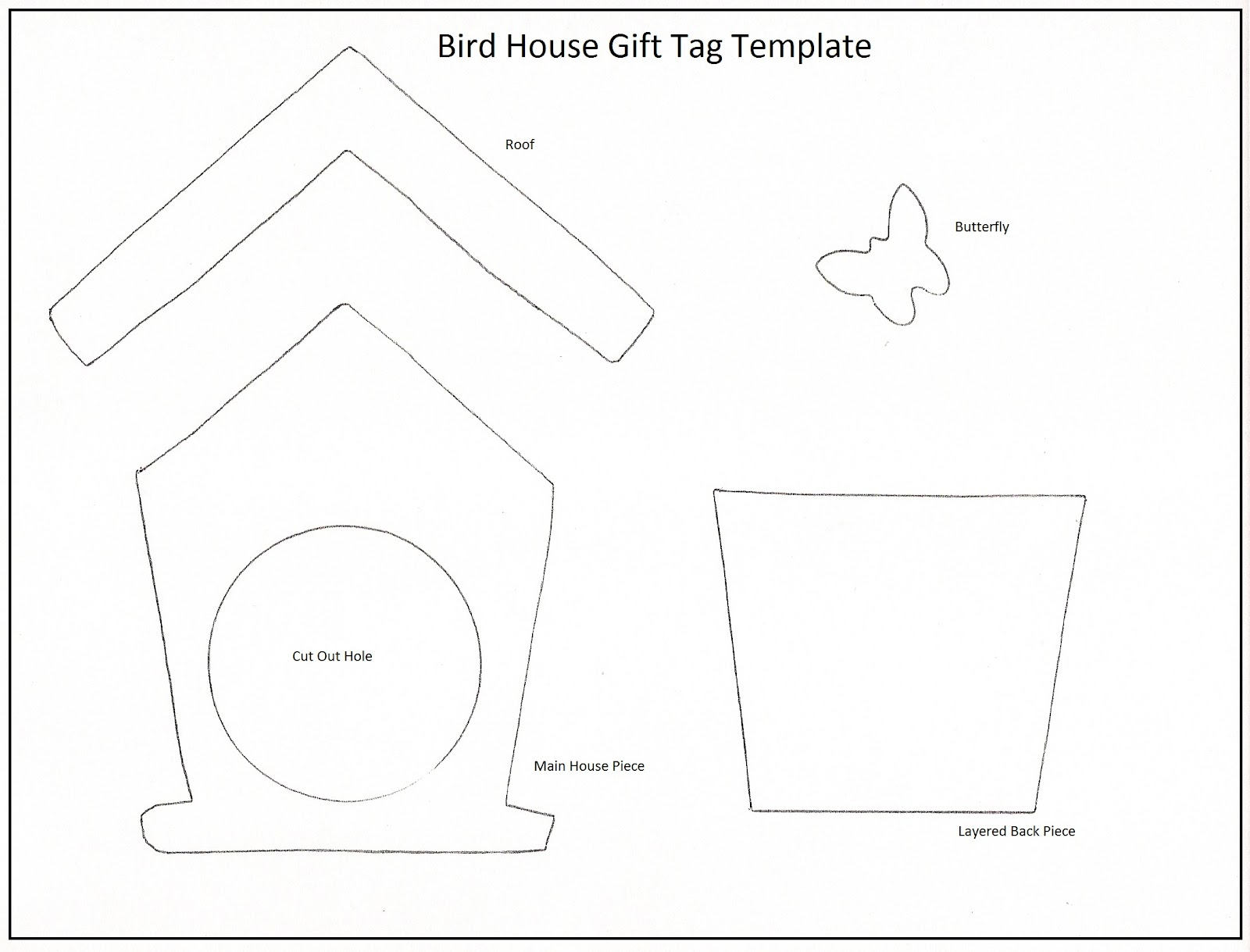 get creative bird house gift tags. Black Bedroom Furniture Sets. Home Design Ideas