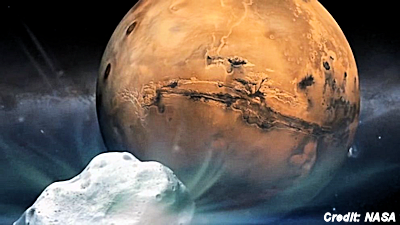 Comet Buzzes Mars in Once-in-a-Lifetime Flyby