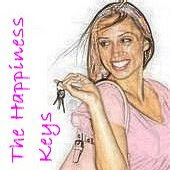 Woman with keys, the happiness keys