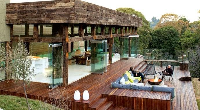 Maison éco-esponsable Afrique du Sud eco lodge bois naturel, Intérieur sur PlanèteDéco.fr blog déco intérieur design archi sélection internationale déco scandinave par Lilly