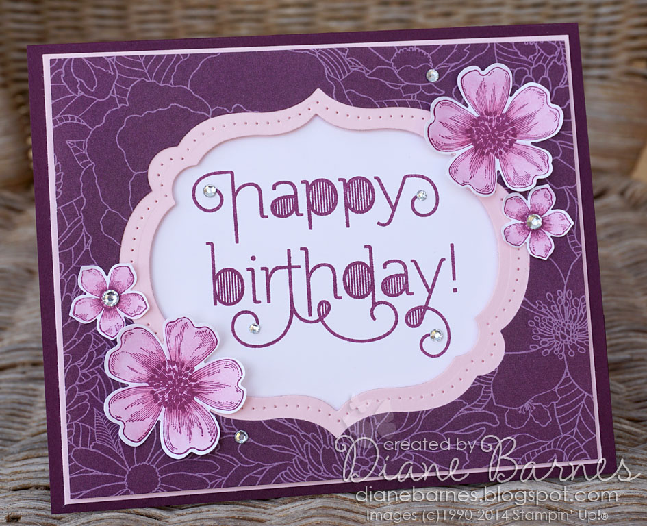 colour me happy blackberry  pink flower birthday, Birthday card