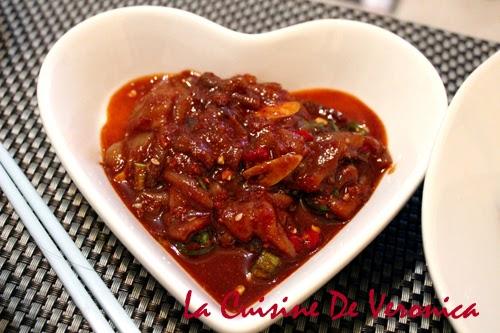 La Cuisine De Veronica 韓國生醃辣魷魚