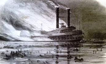 Burning of the Steamer Ruth