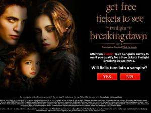 Jebakan clickjacking Twilight Saga