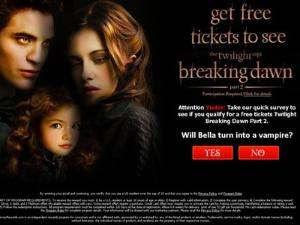 Jebakan clickjacking Twilight Saga
