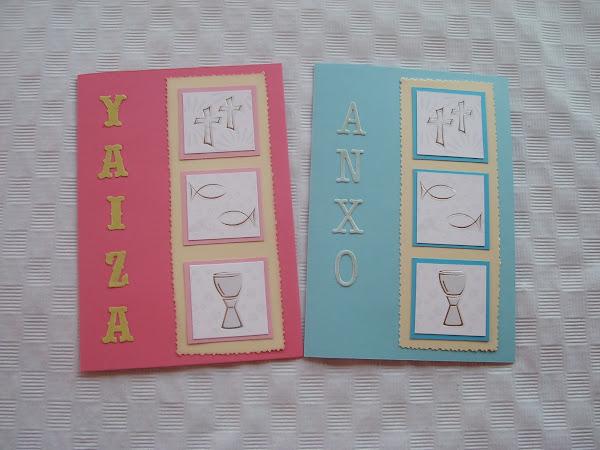 Invitaciones de comunion - Como hacer tarjetas de comunion ...