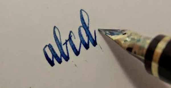 Blue Fountain Pen