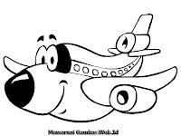 Lembar Mewarnai Gambar Pesawat Terbang