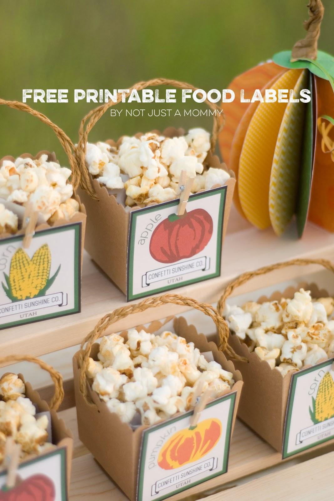 The Party Hop: Autumn Market free treat box label download