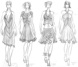 Desenho como desenhar vestidos  pintar e colorir