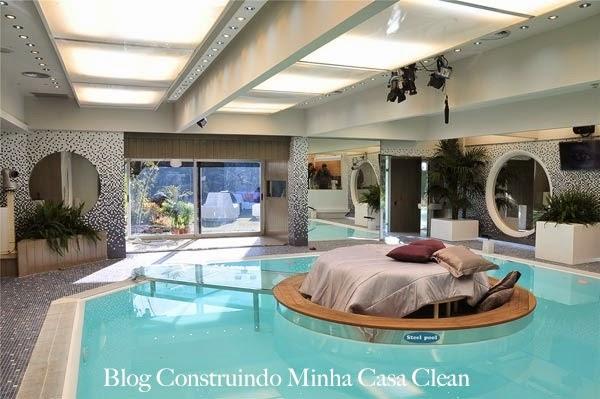 Construindo minha casa clean piscinas internas dentro for Piscinas dentro de casa