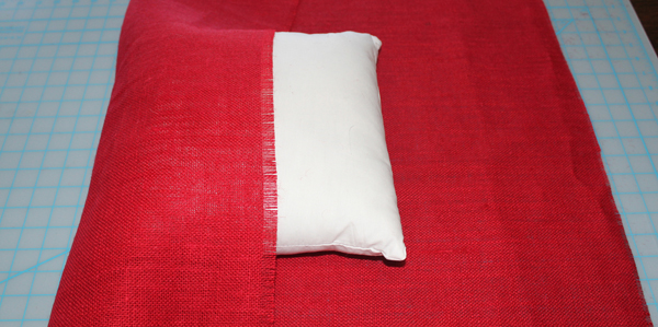 no sew burlap pillow tutorial