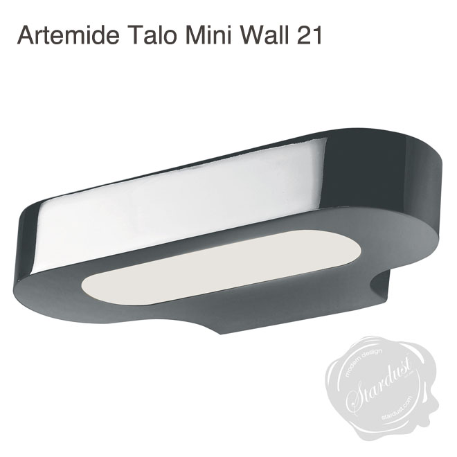 Talo21 Small Halogen Wall Sconce Bathroom Silver Grey