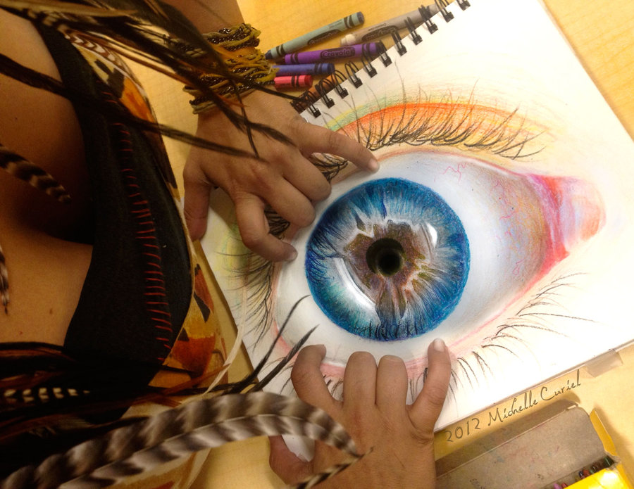 Eye Drawing Color Tumblr Colorful Eye Drawings Tumblr
