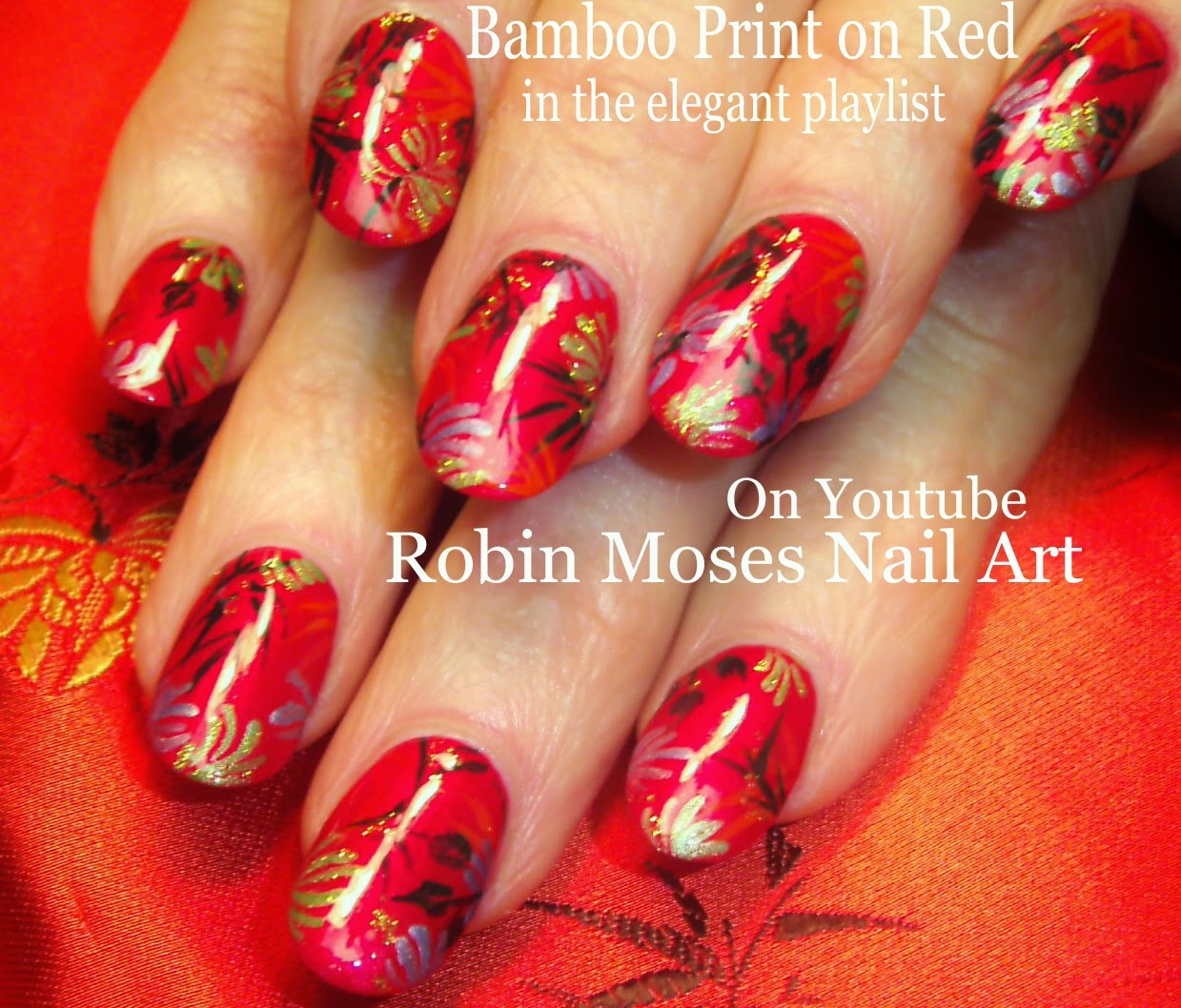 Nail Art By Robin Moses Nail Art Design Red Nail Art Elegant