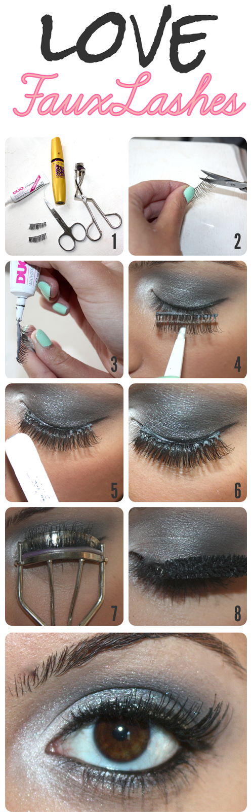 LEARN TO APPLY FAUX LASHES LIKE A PRO