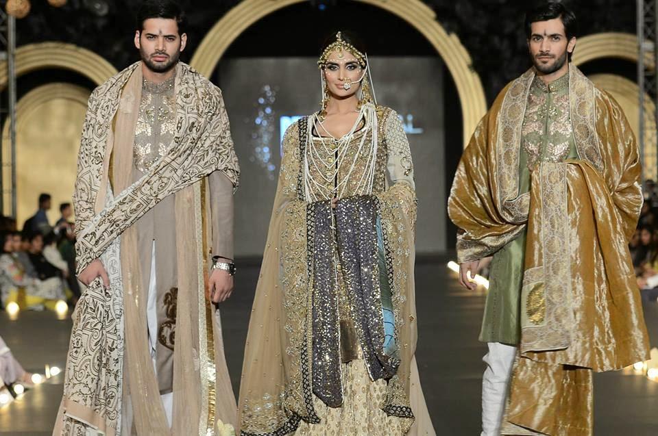 new weeding dresses by fahad hussayn 2014