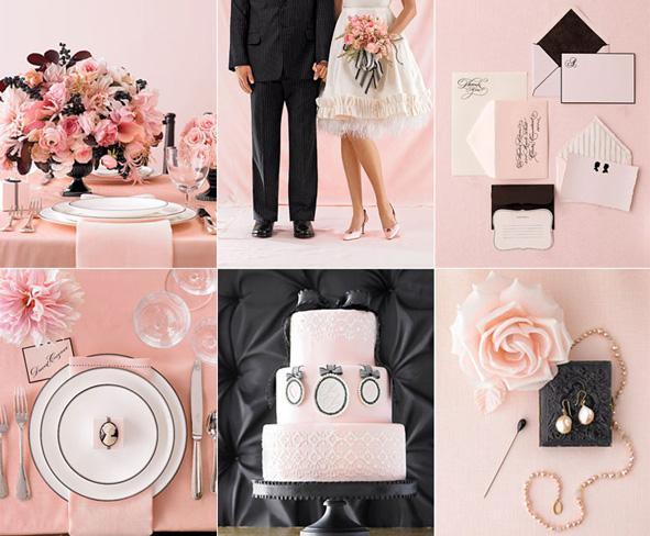 Blooming Brides: Pale Pink + Black