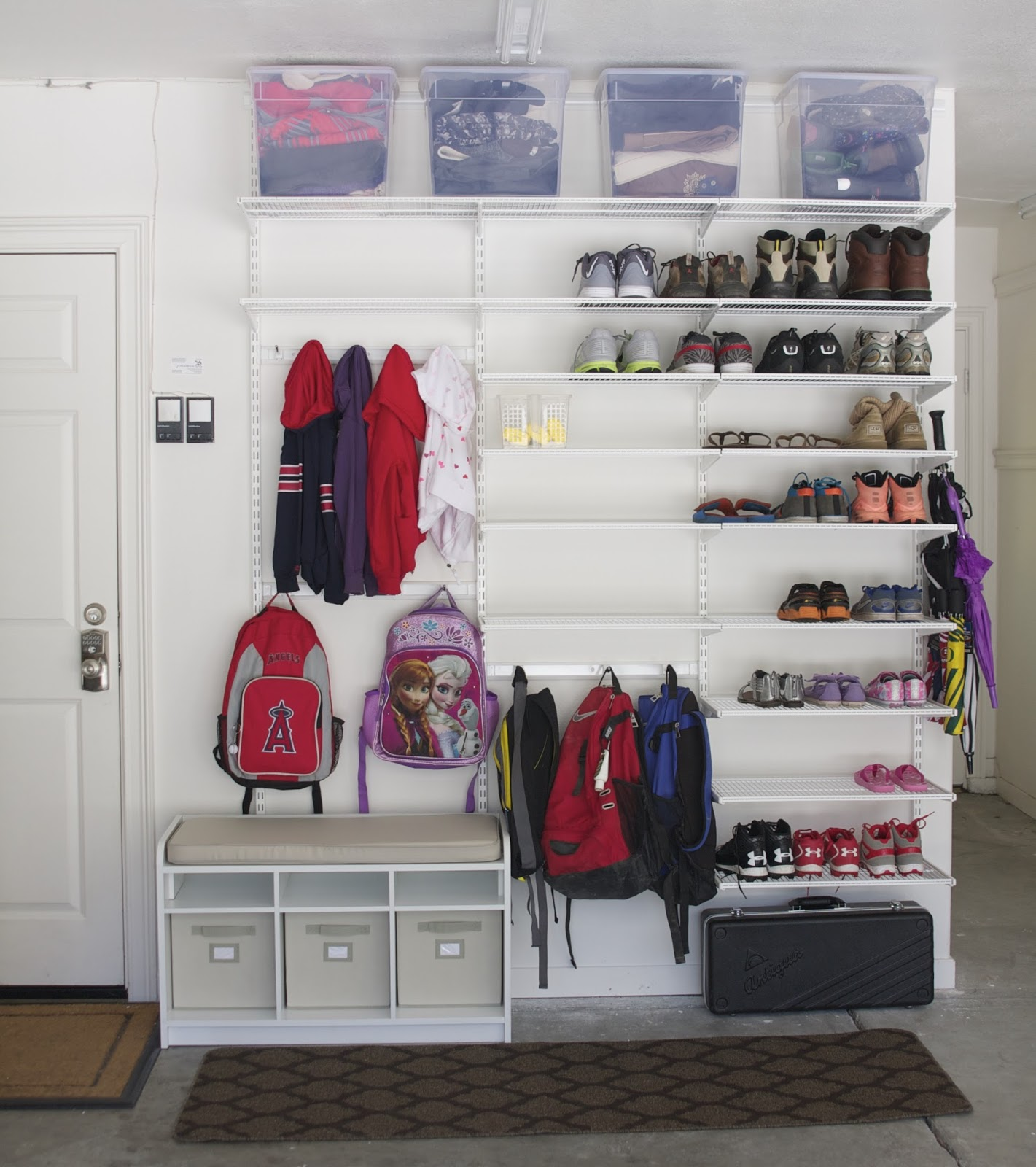 Simple diy garage mudroom simply organized for Diy 3 car garage