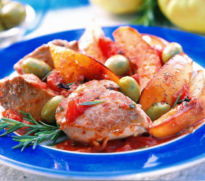 Pork with olives, Mediterranean Diet, The Cretan Diet,