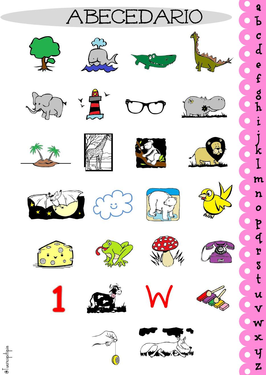 Abecedario para enmarcar/ freebie alphabet