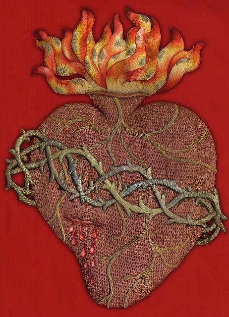Sagrado corazon, bordado, Casa Beneficencia