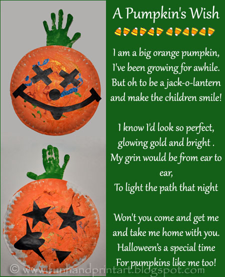 Kids Pumpkin Craft &amp; Poem