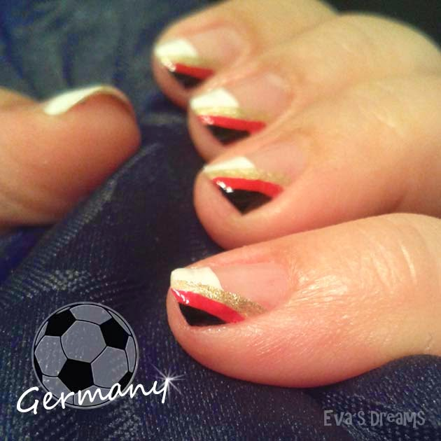 Nails of the week: Nail art - WM Nägel - Deutschland