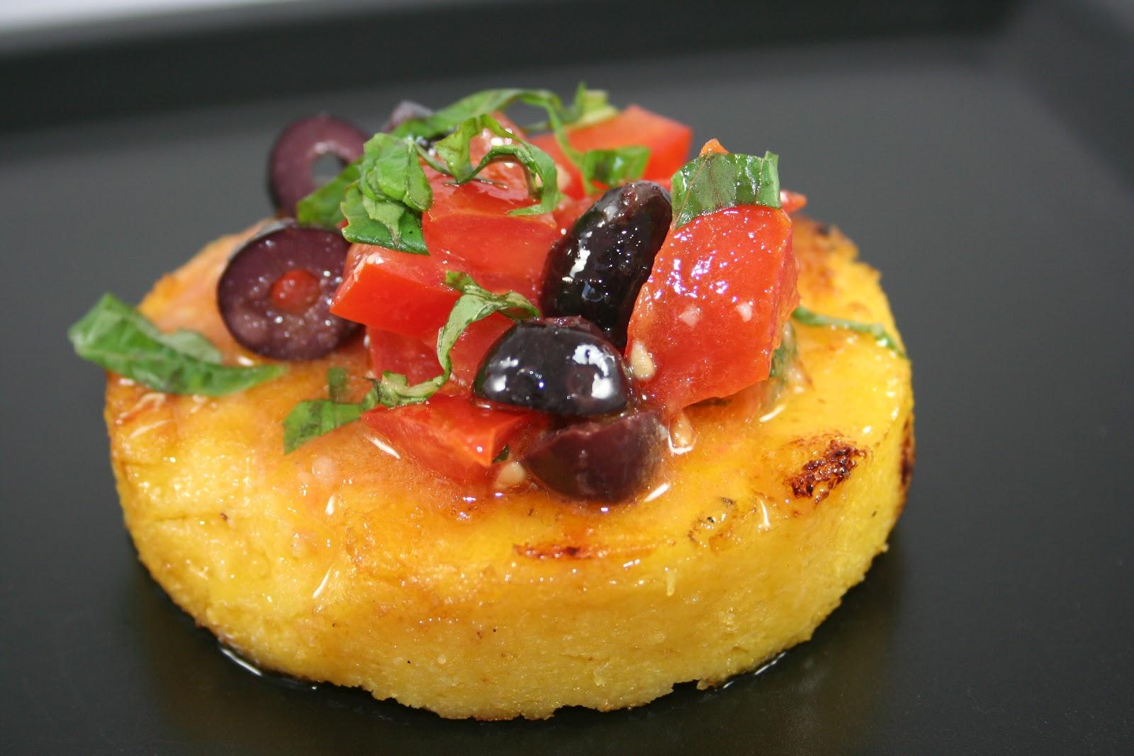 Crostini and Chianti: Grilled Polenta Cakes
