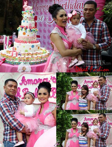 Busana Amora Ulang Tahun Anak Krisdayanti-Raul Lemos