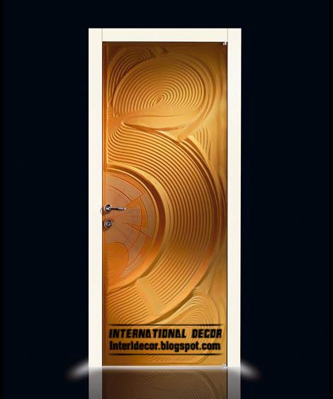 modern orange interior door 2015  PVC door design 2015. Modern art doors 2015  modern doors designs and colors