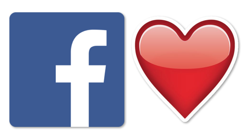 heart on facebook