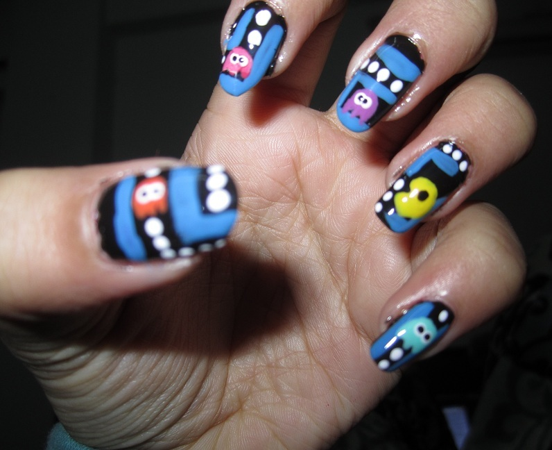 Easy diy pacman nail art tutorial sweet and bitter blog easy diy pacman nail art tutorial prinsesfo Image collections