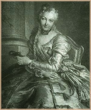 The Lady with the Mask by Pierre Louis de Surugue, 1746