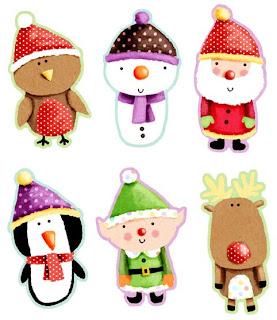 personajes de navidad divertidos
