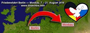 Friedensfahrt Berlin-Moskau startet am 7. August am Brandenburger Tor