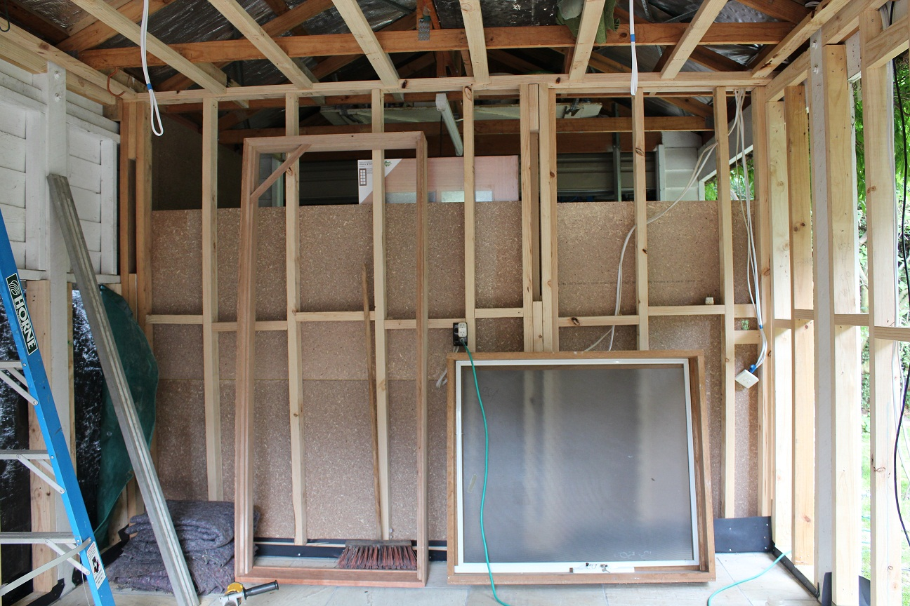 how to put up a timber stud wall