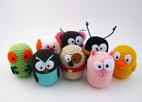 Barn Billy Goat Stuffed Toy Animal Crochet PATTERN Vntg (Auction