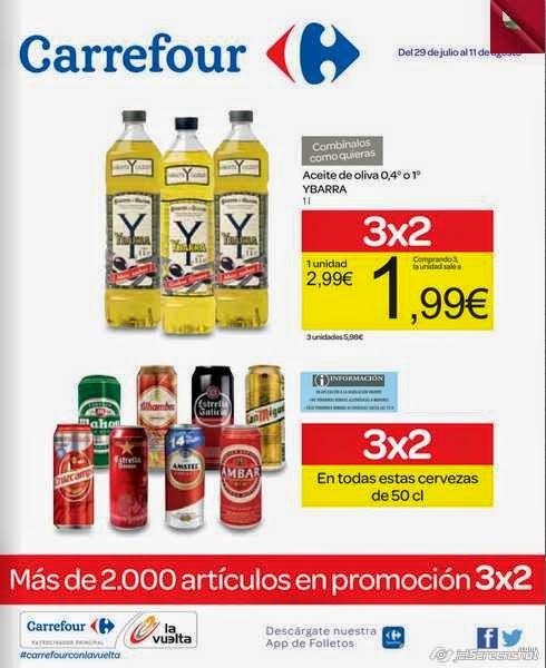 catalogo ofertas de carrefour 3x2 29-7-14