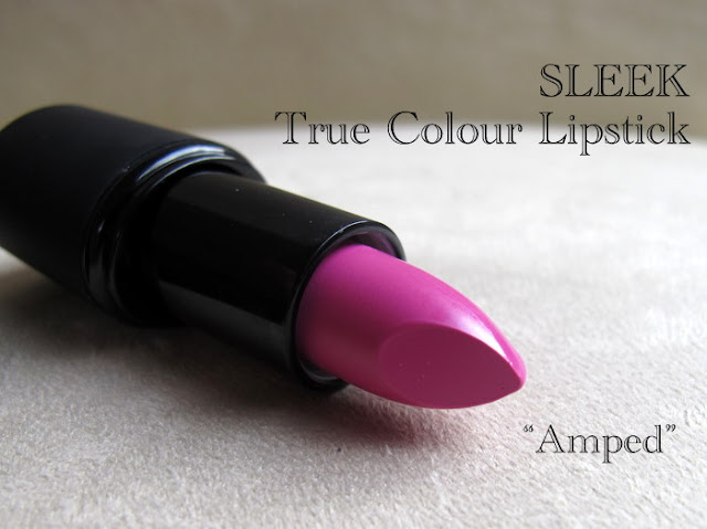 sleek true colour lipstick in amped