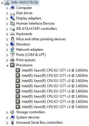 Intel® Xeon® E3-1271V3
