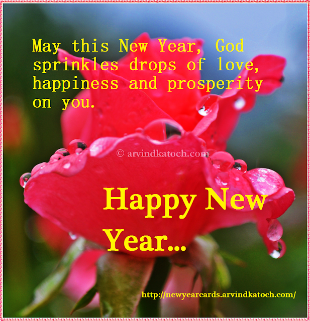 love, happiness, prosperity, Happy NEw year, New Year Card, HD Card