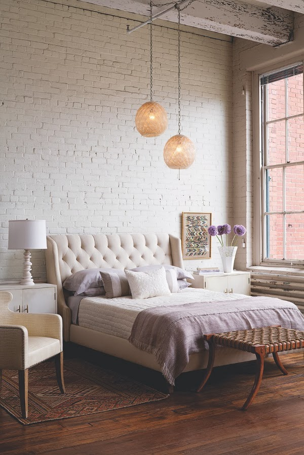 Mm interior design for Bedroom w brick wall