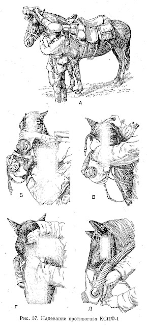 Gas masks for horses ussr