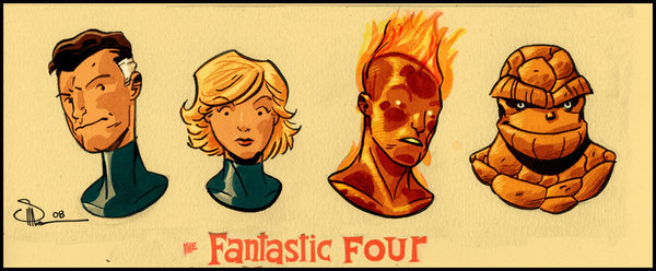 Fantastic 4 Cartoon Characters : The dork review evan quot doc shaner family portrait